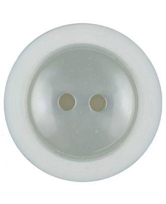 Polyesterknopf dezent umrandet mit  2 Löchern - Größe: 18mm - Farbe: grau - Art.Nr. 317700