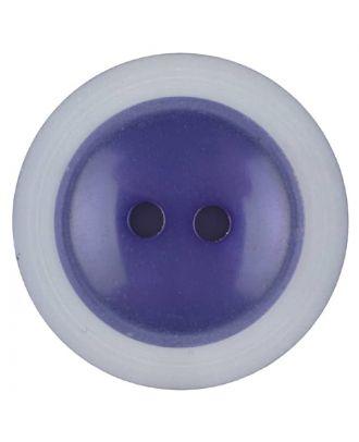 Polyesterknopf dezent umrandet mit  2 Löchern - Größe: 28mm - Farbe: lila - Art.Nr. 387717