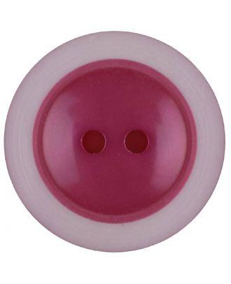 Polyesterknopf dezent umrandet mit  2 Löchern - Größe: 28mm - Farbe: pink - Art.Nr. 387721