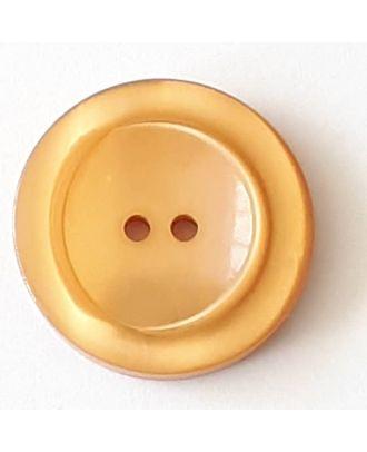 Polyesterknopf mit breitem Rand mit 2 Löchern - Größe: 28mm - Farbe: beige - Art.Nr. 388712