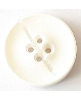 Polyesterknopf mit optischer Bruchstelle mit 4 Löchern - Größe: 30mm - Farbe: weiß - Art.Nr. 380359
