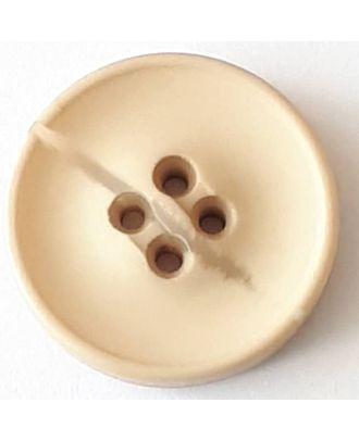 Polyesterknopf mit optischer Bruchstelle mit 4 Löchern - Größe: 20mm - Farbe: beige - Art.Nr. 338701