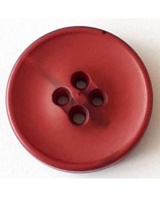 Polyesterknopf mit optischer Bruchstelle mit 4 Löchern - Größe: 30mm - Farbe: rot  - Art.Nr. 388710