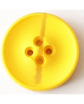 Polyesterknopf mit optischer Bruchstelle mit 4 Löchern - Größe: 30mm - Farbe: gelb - Art.Nr. 388711