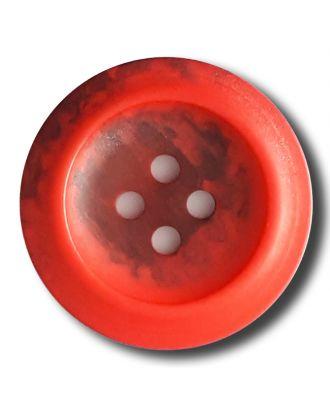 Polyesterknopf mit trendigem Flammendekor mit 2 Löchern - Größe: 20mm - Farbe: rot - Art.Nr. 332809