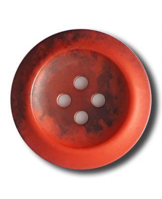 Polyesterknopf mit trendigem Flammendekor mit 2 Löchern - Größe: 20mm - Farbe: rot - Art.Nr. 332810