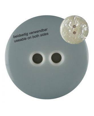 Polyesterknopf  marmoriert, beidseitig verwendbar mit 2 Löchern - Größe: 23mm - Farbe: grau - Art.Nr. 342800