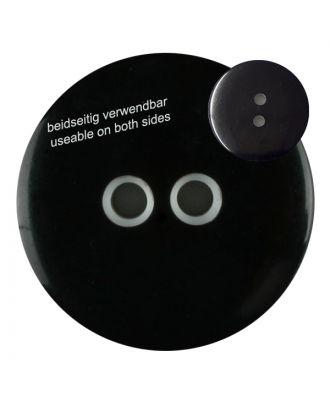 Polyesterknopf marmoriert, beidseitig verwendbar mit 2 Löchern - Größe: 18mm - Farbe: schwarz - Art.Nr. 311020