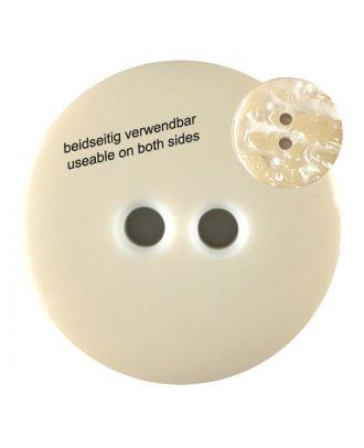 Polyesterknopf marmoriert, beidseitig verwendbar mit 2 Löchern - Größe: 18mm - Farbe: beige - Art.Nr. 312801