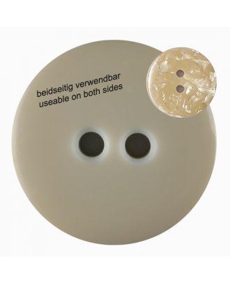 Polyesterknopf  marmoriert, beidseitig verwendbar mit 2 Löchern - Größe: 18mm - Farbe: beige - Art.Nr. 312802