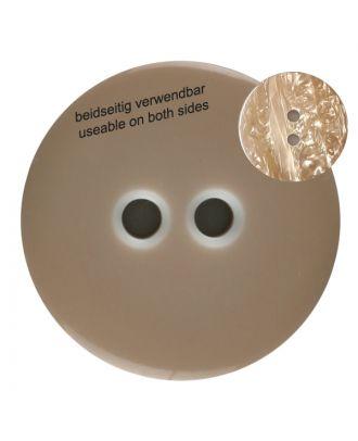 Polyesterknopf marmoriert, beidseitig verwendbar mit 2 Löchern - Größe: 18mm - Farbe: braun - Art.Nr. 312803