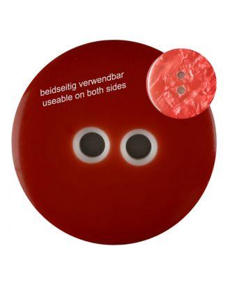 Polyesterknopf marmoriert, beidseitig verwendbar mit 2 Löchern - Größe: 18mm - Farbe: rot - Art.Nr. 312814
