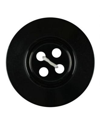 Polyesterknopf 4-Loch Perlmutimitation glänzend - Größe: 18mm - Farbe: schwarz - Art.Nr. 311026