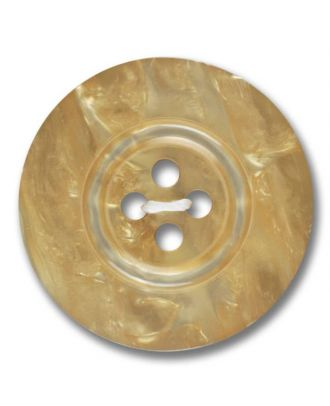 Polyesterknopf 4-Loch Perlmutimitation glänzend - Größe: 28mm - Farbe: beige - Art.Nr. 383800