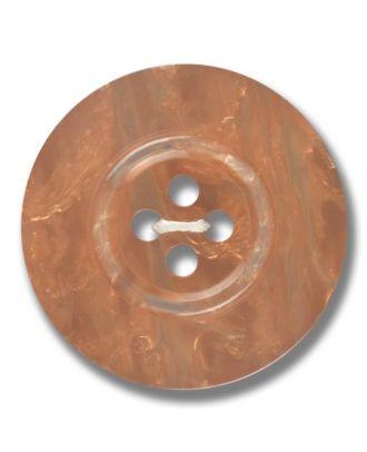 Polyesterknopf 4-Loch Perlmutimitation glänzend - Größe: 28mm - Farbe: braun - Art.Nr. 383801