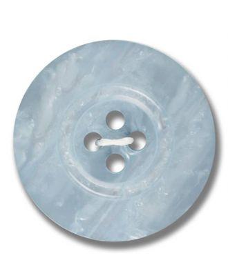 Polyesterknopf 4-Loch Perlmutimitation glänzend - Größe: 28mm - Farbe: hellblau - Art.Nr. 383802