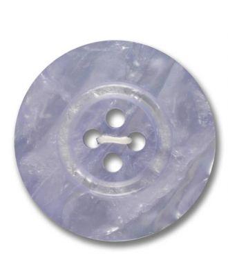 Polyesterknopf 4-Loch Perlmutimitation glänzend - Größe: 28mm - Farbe: lila - Art.Nr. 383806