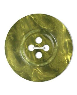 Polyesterknopf 4-Loch Perlmutimitation glänzend - Größe: 18mm - Farbe: grün - Art.Nr. 313807