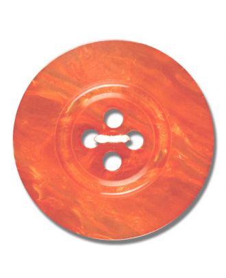 Polyesterknopf 4-Loch Perlmutimitation glänzend - Größe: 28mm - Farbe: orange - Art.Nr. 383811