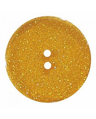 transparenter Knopf mit Glitter, 2-Loch - Größe: 28mm - Farbe: beige - Art.Nr. 404823