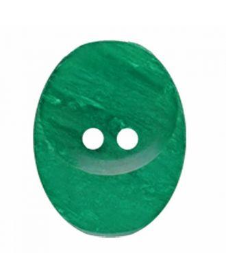 ovaler Knopf Polyester mit zwei Löchern - Größe: 30mm - Farbe: grün - Art.Nr. 385833