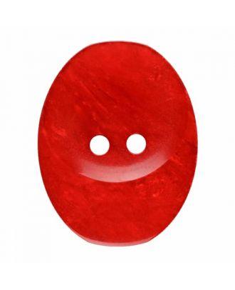 ovaler Knopf Polyester mit zwei Löchern - Größe: 30mm - Farbe: rot - Art.Nr. 385834