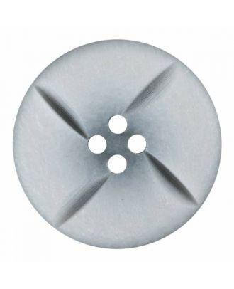 runder Knopf Polyester mit vier Kerben und vier  Löchern - Größe: 28mm - Farbe: weiß - Art.Nr. 380394