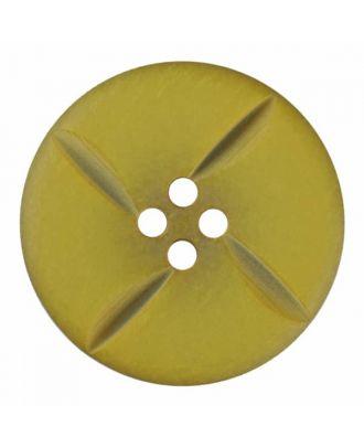 runder Knopf Polyester mit vier Kerben und vier  Löchern - Größe: 28mm - Farbe: grün - Art.Nr. 385819