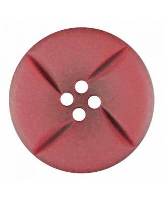 runder Knopf Polyester mit vier Kerben und vier  Löchern - Größe: 28mm - Farbe: rosa - Art.Nr. 385822