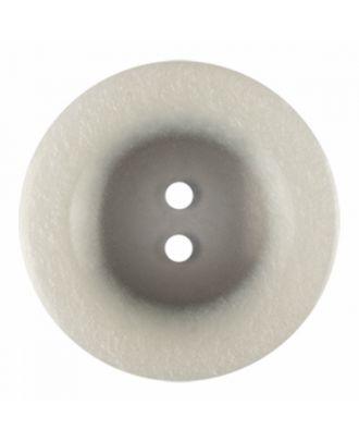 Polyesterknopf rund in glänzender Optik und 2 Löchern - Größe: 28mm - Farbe: weiß - Art.-Nr.: 380413