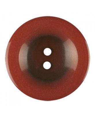 Polyesterknopf rund in glänzender Optik und 2 Löchern - Größe: 18mm - Farbe: braun - Art.-Nr.: 316814