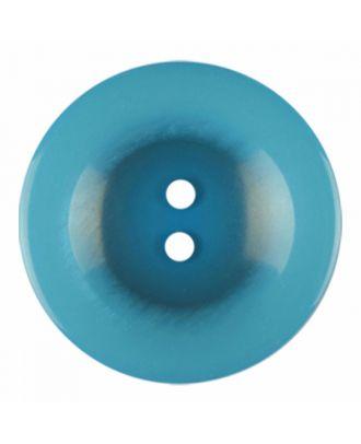 Polyesterknopf rund in glänzender Optik und 2 Löchern - Größe: 28mm - Farbe: blau - Art.-Nr.: 386827