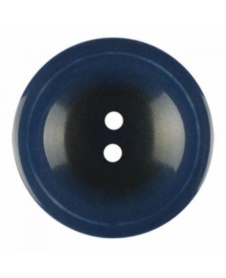 Polyesterknopf rund in glänzender Optik und 2 Löchern - Größe: 28mm - Farbe: marine blau - Art.-Nr.: 386828