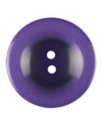 Polyesterknopf rund in glänzender Optik und 2 Löchern - Größe: 28mm - Farbe: lila - Art.-Nr.: 386829