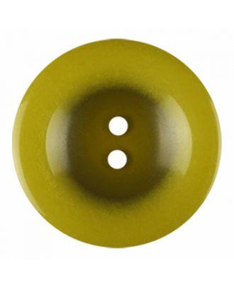 Polyesterknopf rund in glänzender Optik und 2 Löchern - Größe: 18mm - Farbe: hellgrün - Art.-Nr.: 316818