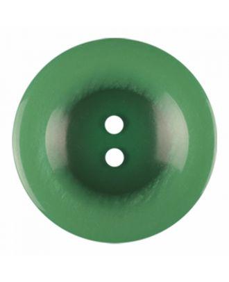 Polyesterknopf rund in glänzender Optik und 2 Löchern - Größe: 18mm - Farbe: hellgrün - Art.-Nr.: 316819