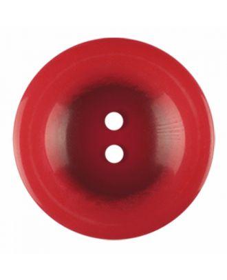Polyesterknopf rund in glänzender Optik und 2 Löchern - Größe: 28mm - Farbe: rot - Art.-Nr.: 386833