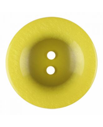 Polyesterknopf rund in glänzender Optik und 2 Löchern - Größe: 18mm - Farbe: gelb - Art.-Nr.: 316822
