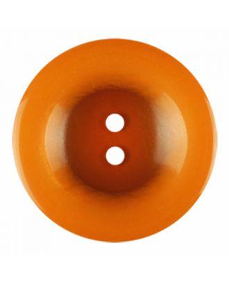 Polyesterknopf rund in glänzender Optik und 2 Löchern - Größe: 18mm - Farbe: orange - Art.-Nr.: 316823