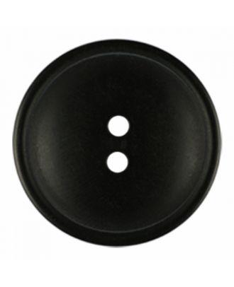 Polyesterknopf rund in matter Optik mit Struktur und 2 Löchern - Größe: 30mm - Farbe: schwarz - Art.-Nr.: 380412