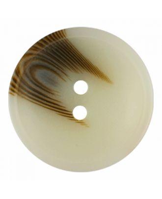 Polyesterknopf rund in matter Optik mit Struktur und 2 Löchern - Größe: 30mm - Farbe: beige - Art.-Nr.: 386812