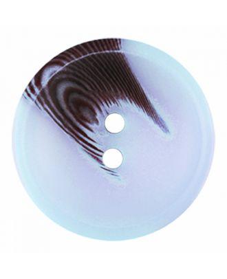 Polyesterknopf rund in matter Optik mit Struktur und 2 Löchern - Größe: 30mm - Farbe: blau - Art.-Nr.: 386814