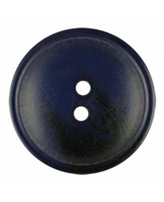 Polyesterknopf rund in matter Optik mit Struktur und 2 Löchern - Größe: 30mm - Farbe: marine blau - Art.-Nr.: 386815