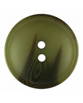 Polyesterknopf rund in matter Optik mit Struktur und 2 Löchern - Größe: 30mm - Farbe: hellgrün - Art.-Nr.: 386817