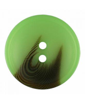 Polyesterknopf rund in matter Optik mit Struktur und 2 Löchern - Größe: 30mm - Farbe: hellgrün - Art.-Nr.: 386818