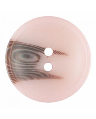 Polyesterknopf rund in matter Optik mit Struktur und 2 Löchern - Größe: 20mm - Farbe: rosa - Art.-Nr.: 336807
