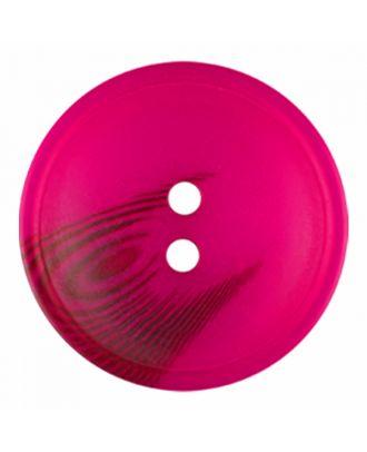Polyesterknopf rund in matter Optik mit Struktur und 2 Löchern - Größe: 25mm - Farbe: rosa - Art.-Nr.: 376820