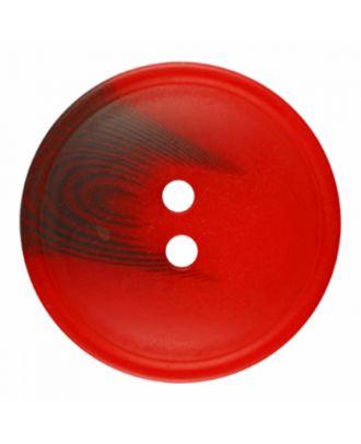 Polyesterknopf rund in matter Optik mit Struktur und 2 Löchern - Größe: 30mm - Farbe: rot - Art.-Nr.: 386821