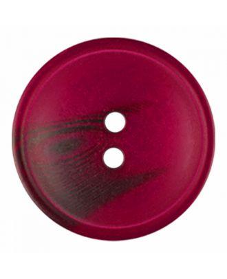 Polyesterknopf rund in matter Optik mit Struktur und 2 Löchern - Größe: 30mm - Farbe: weinrot - Art.-Nr.: 386822