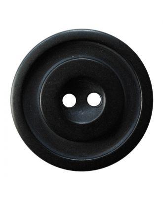Polyesterknopf rund in zweifarbiger, matter Optik mit 2 Löchern - Größe:  30mm - Farbe: schwarz - ArtNr.: 380420